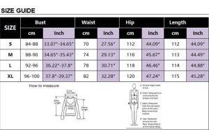 size chart for jumpsuit